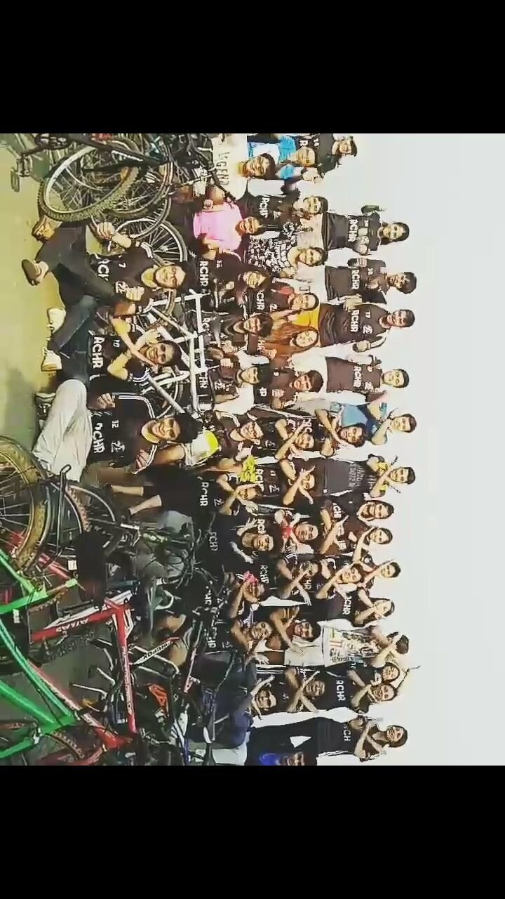 Rotaract Club Of HR College organises a cycle rally