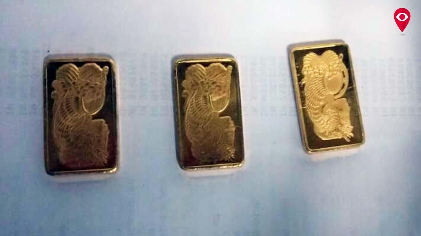 महिलेच्या पार्श्वभागात सापडली आठ सोन्याची बिस्किटे
