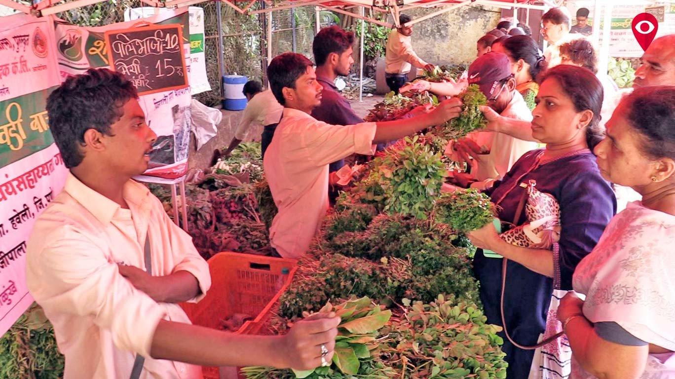 शिवाजी पार्कमध्ये भरला आठवडी बाजार
