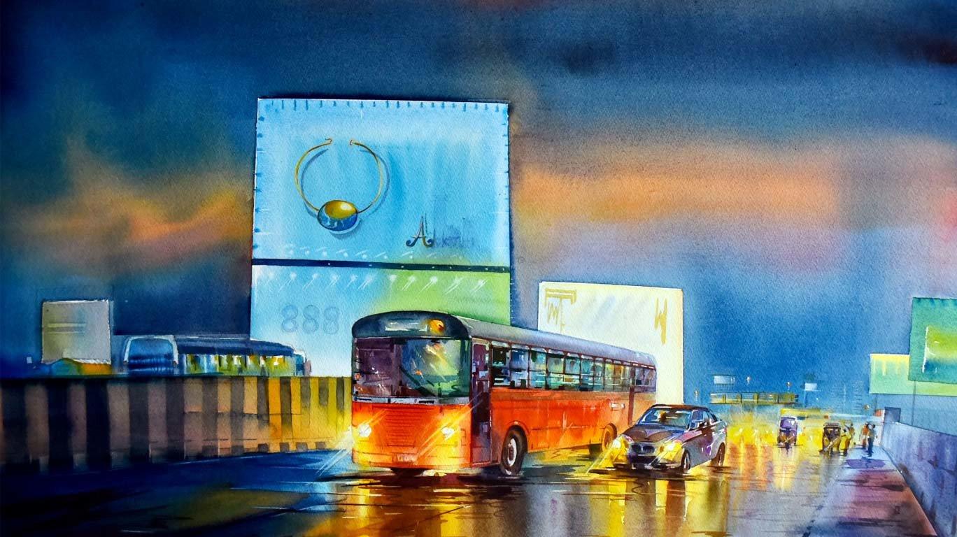 'बघा' अशी दिसते रात्रीची देखणी मुंबई...