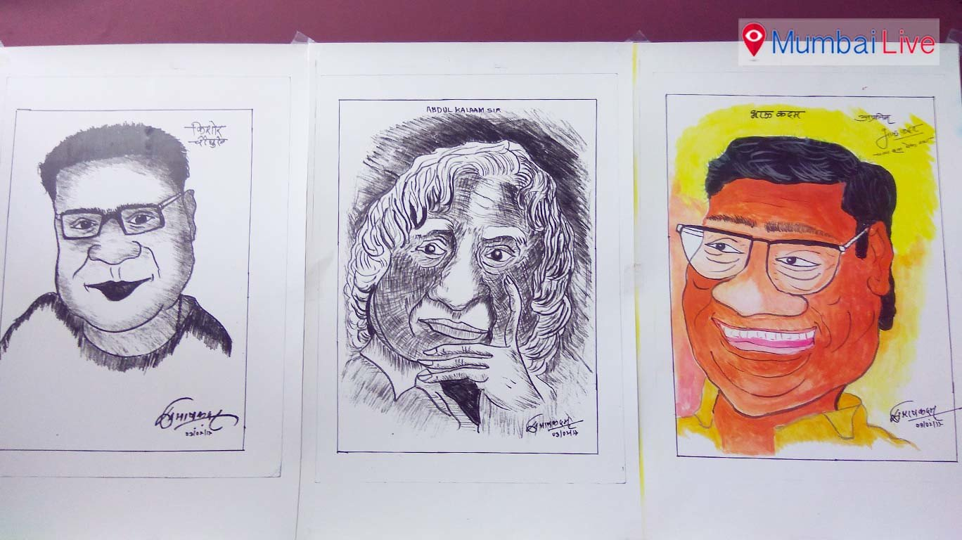An exhibition of cartoonist's paintings