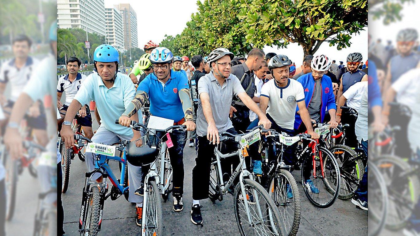 मरीन ड्राईव्हला स्वतंत्र सायकल ट्रॅक सुरु!
