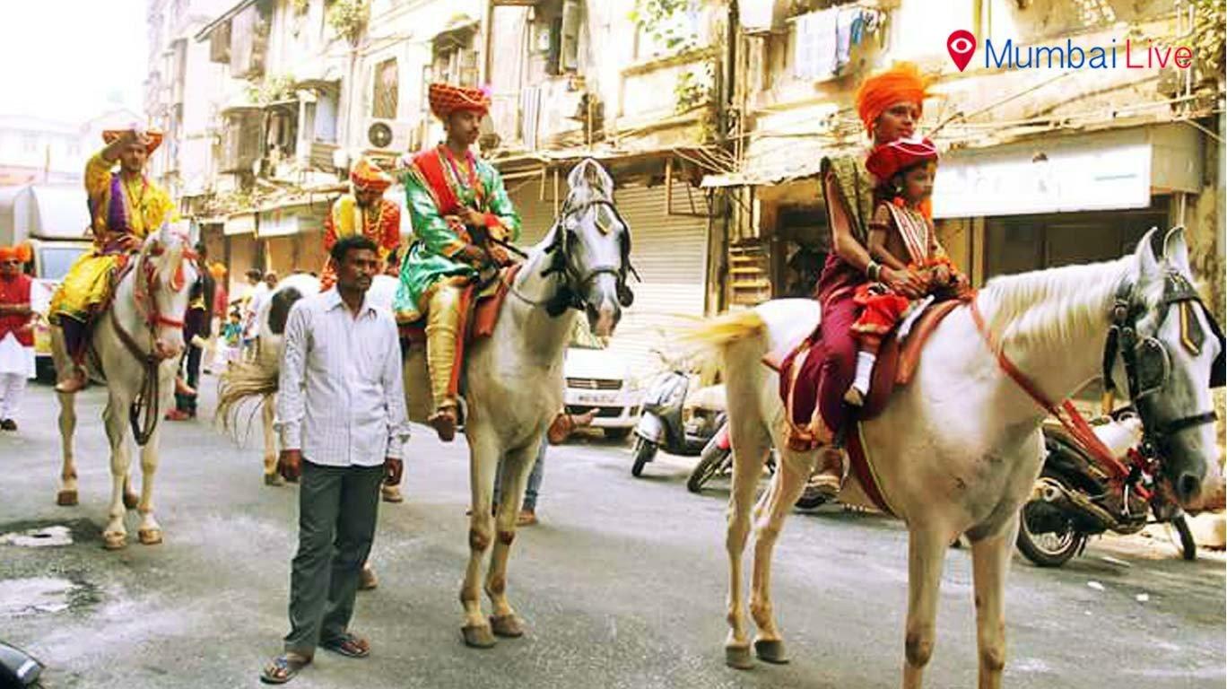 डोंगरी में शोभायात्रा का आयोजन