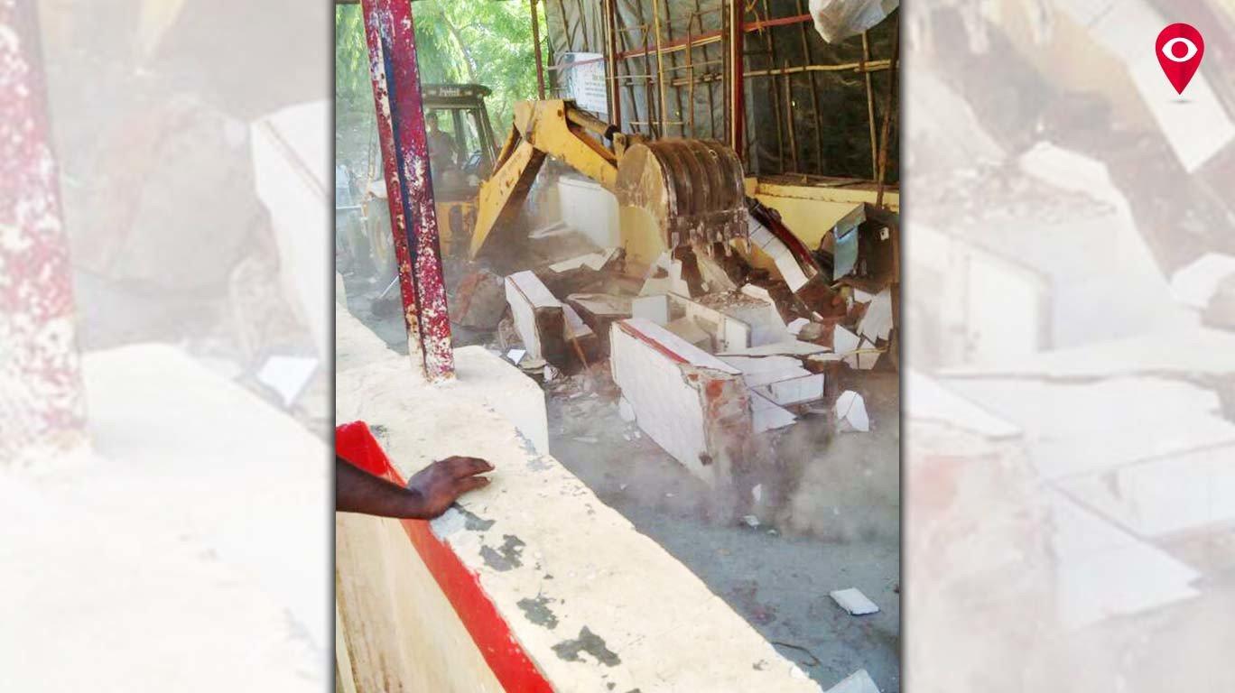 घाटकोपर में जलवाहिनियों के पास झोपड़ियों को हटाने का कार्य शुरु