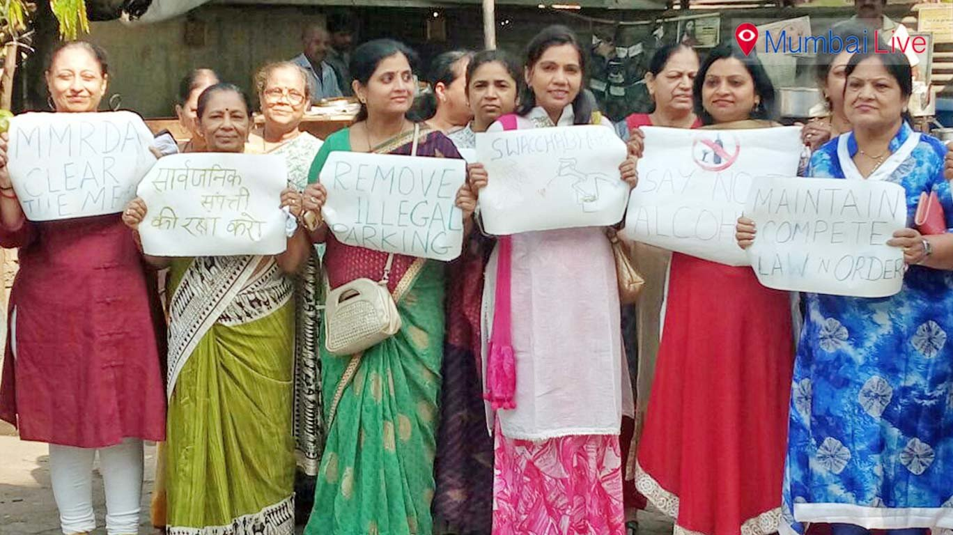 Women protest for their rights on women's day