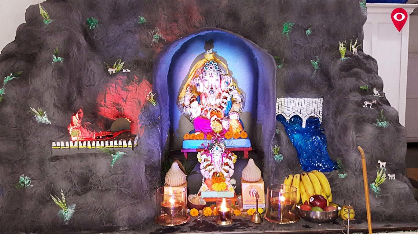 दिव्यांगो ने बनाई बाप्पा की एक शानदार मूर्ति