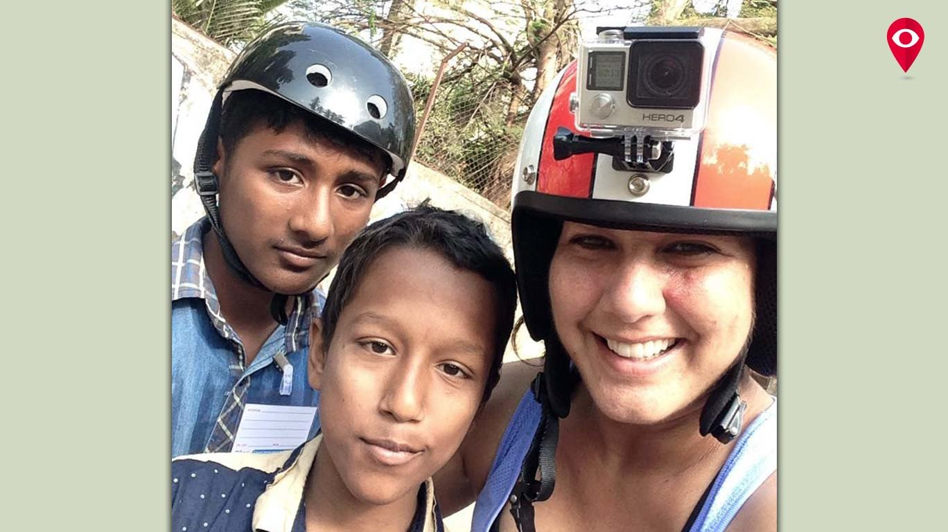 "Meet Bandra's very own ""Helmet Girl"""