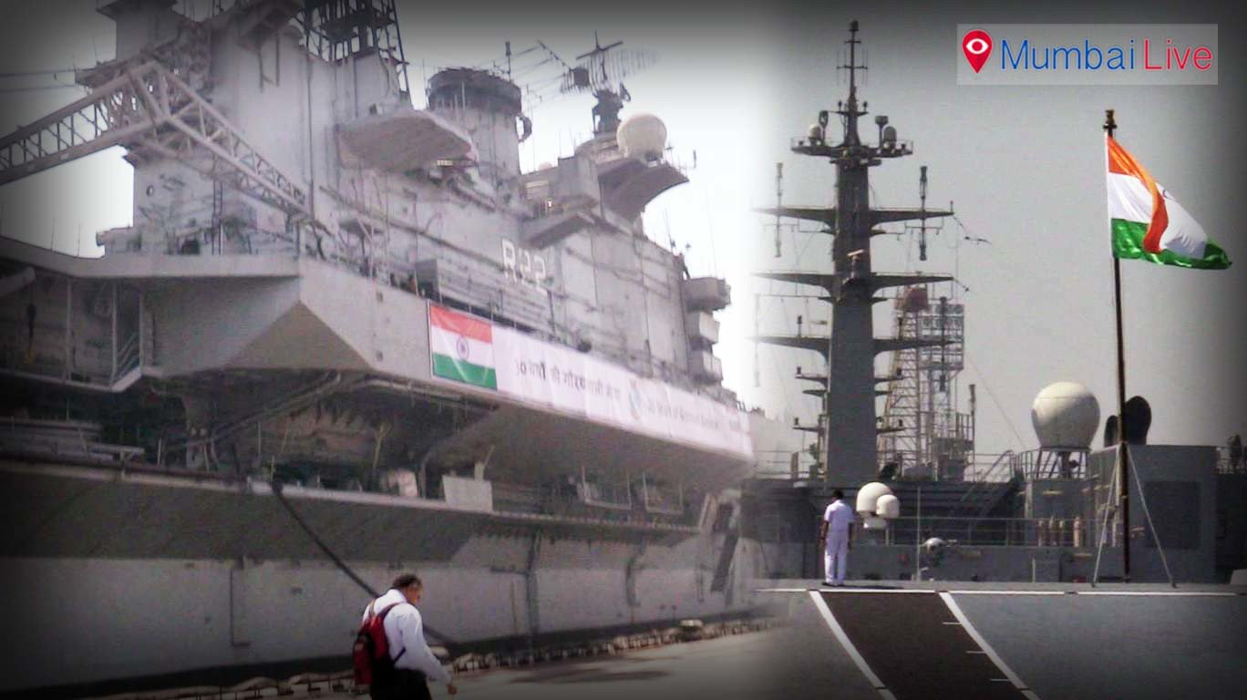 INS Viraat - to be decommissioned in Mumbai