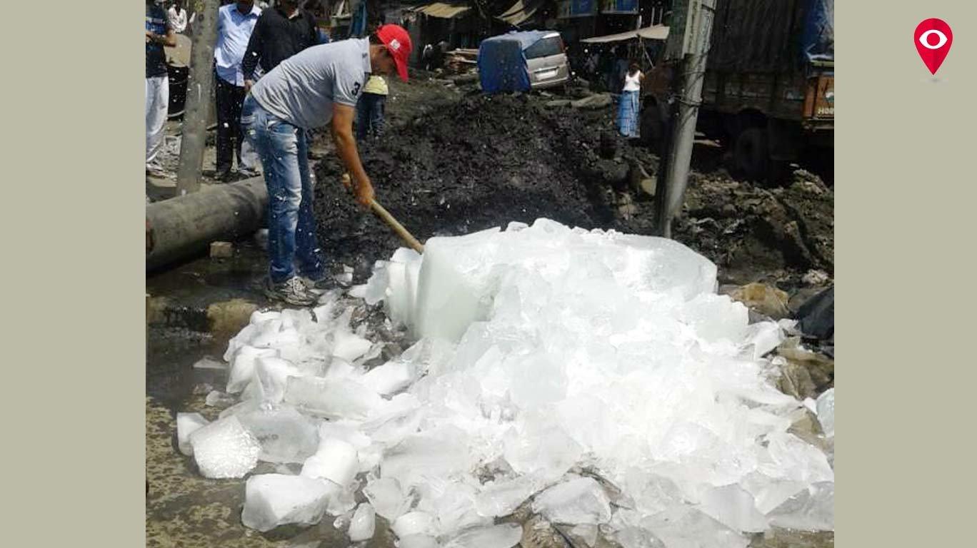 13 हजार 700 किलो दूषित बर्फ नष्ट