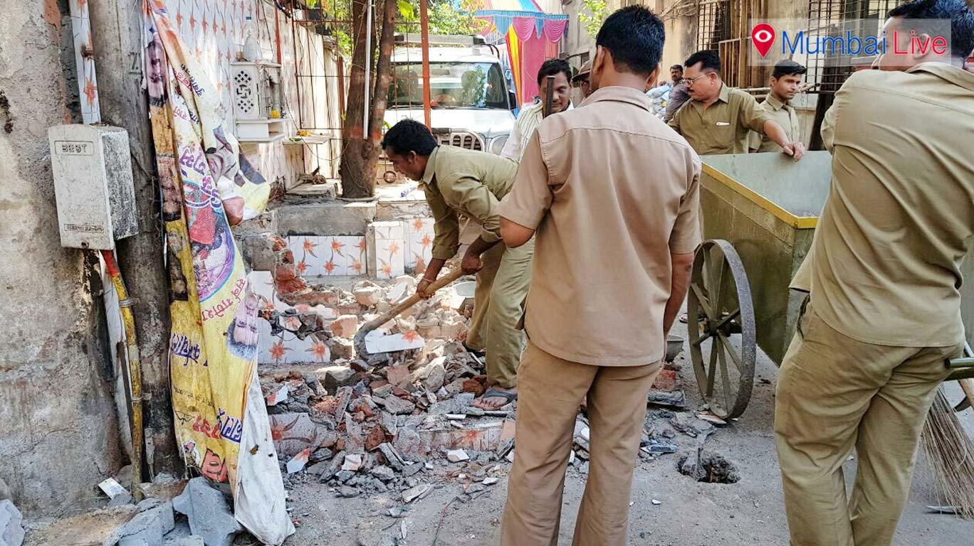 BMC's demolition drive on the illegal construction in Girgaon