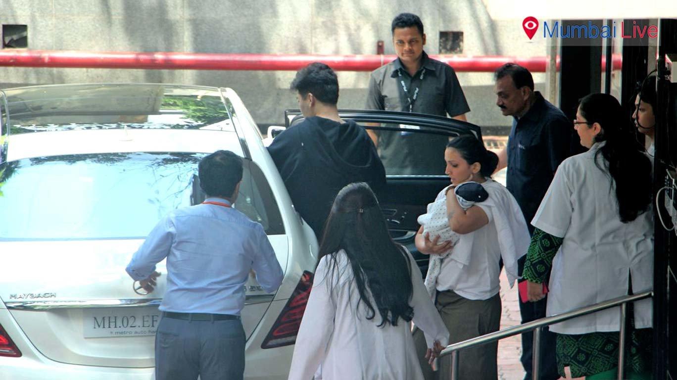 'Daddy' Karan Johar takes his adorable twins home