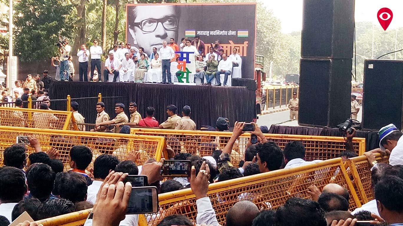 राज ठाकरे का 'संताप' , रेलवे के साथ मोदी पर भी साधा निशाना