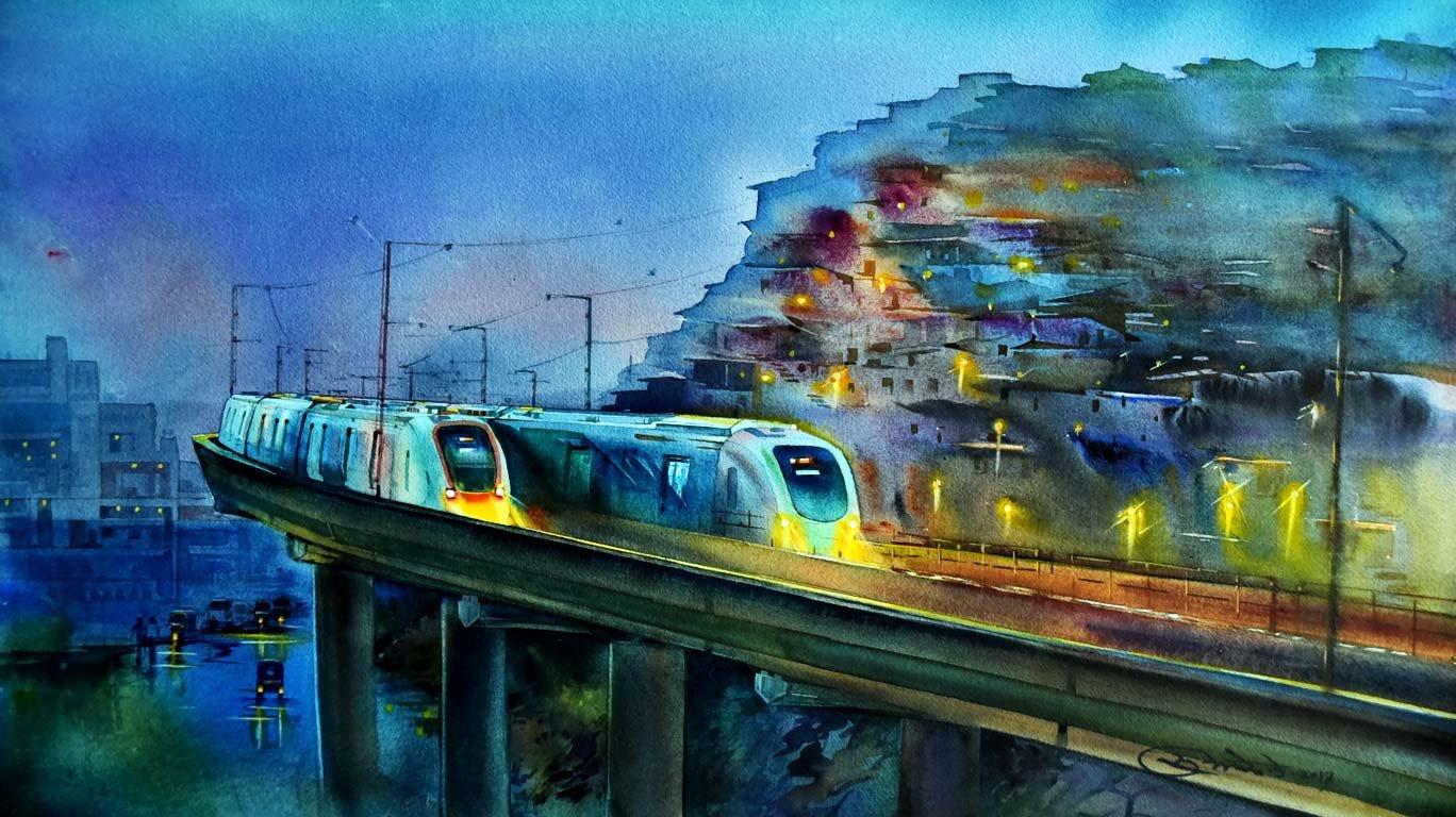 रात में ऐसी दिखती है मुंबई !