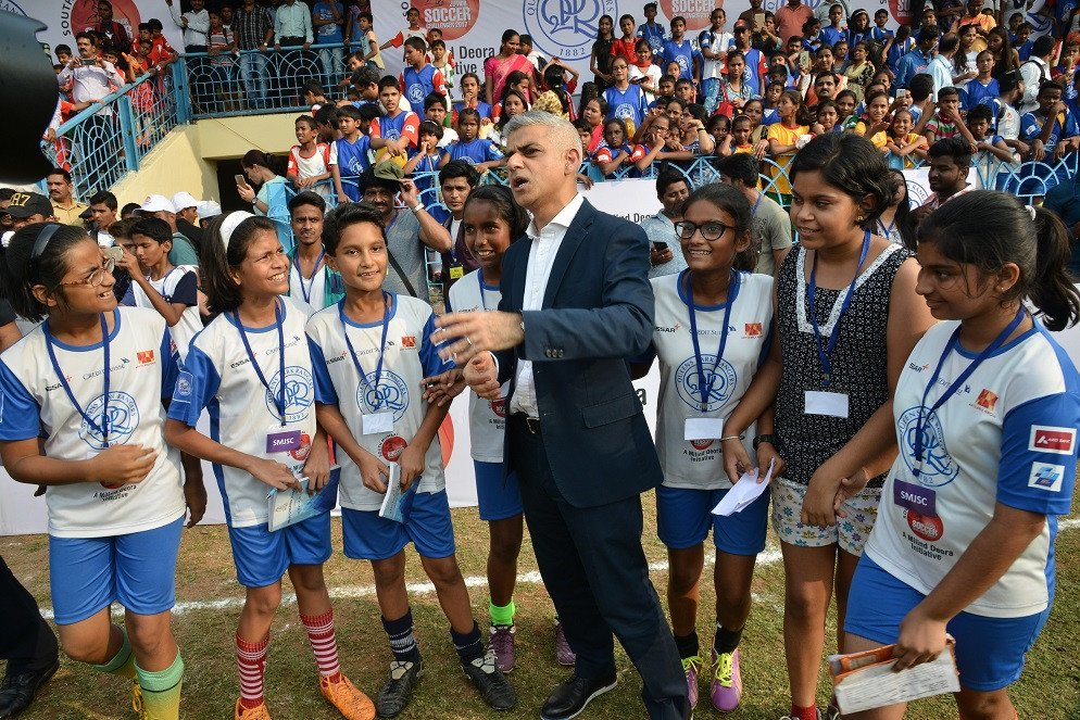 Mayor of London praises the footballing talent of Mumbai as he announces young stars who will travel to UK