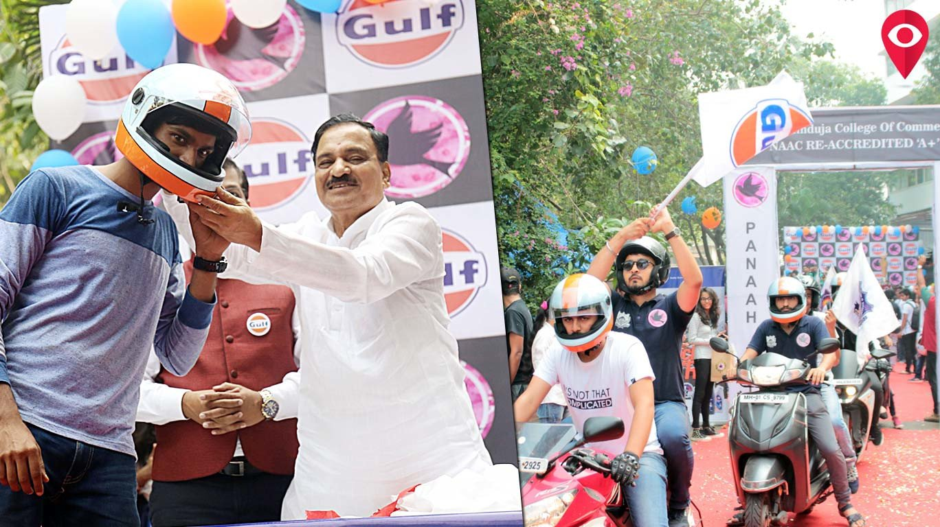 Transport Minister flags off massive bike rally as part of KPB Hinduja's annual intercollegiate festival 'Panaah'