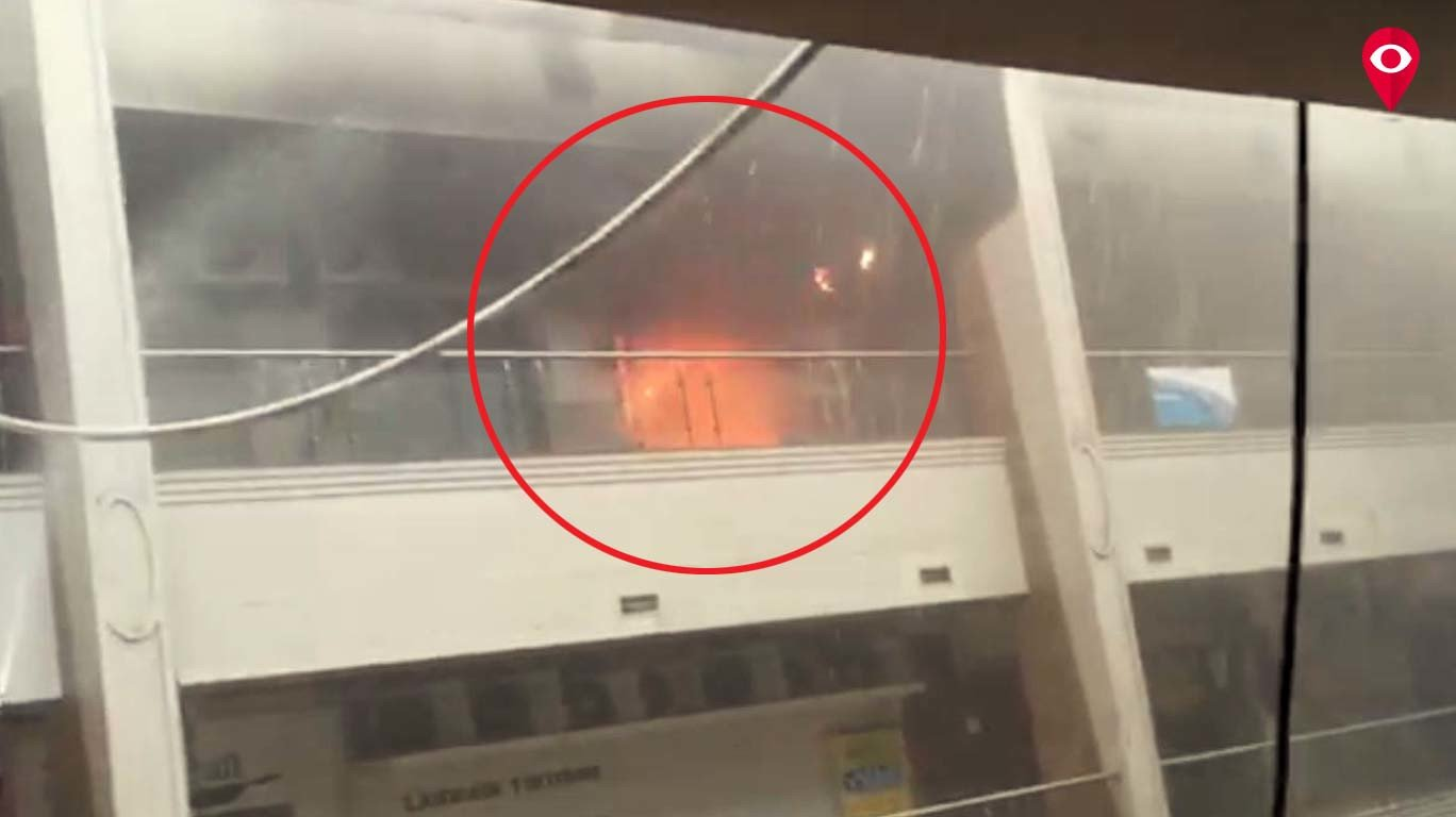 प्लाजा सेंटर एवेन्यू में आग