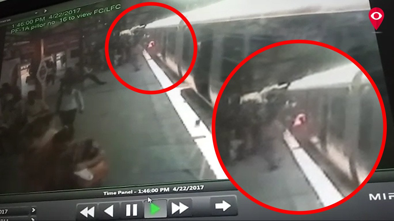 रेल्वे पोलिसाने वाचवला महिलेचा जीव