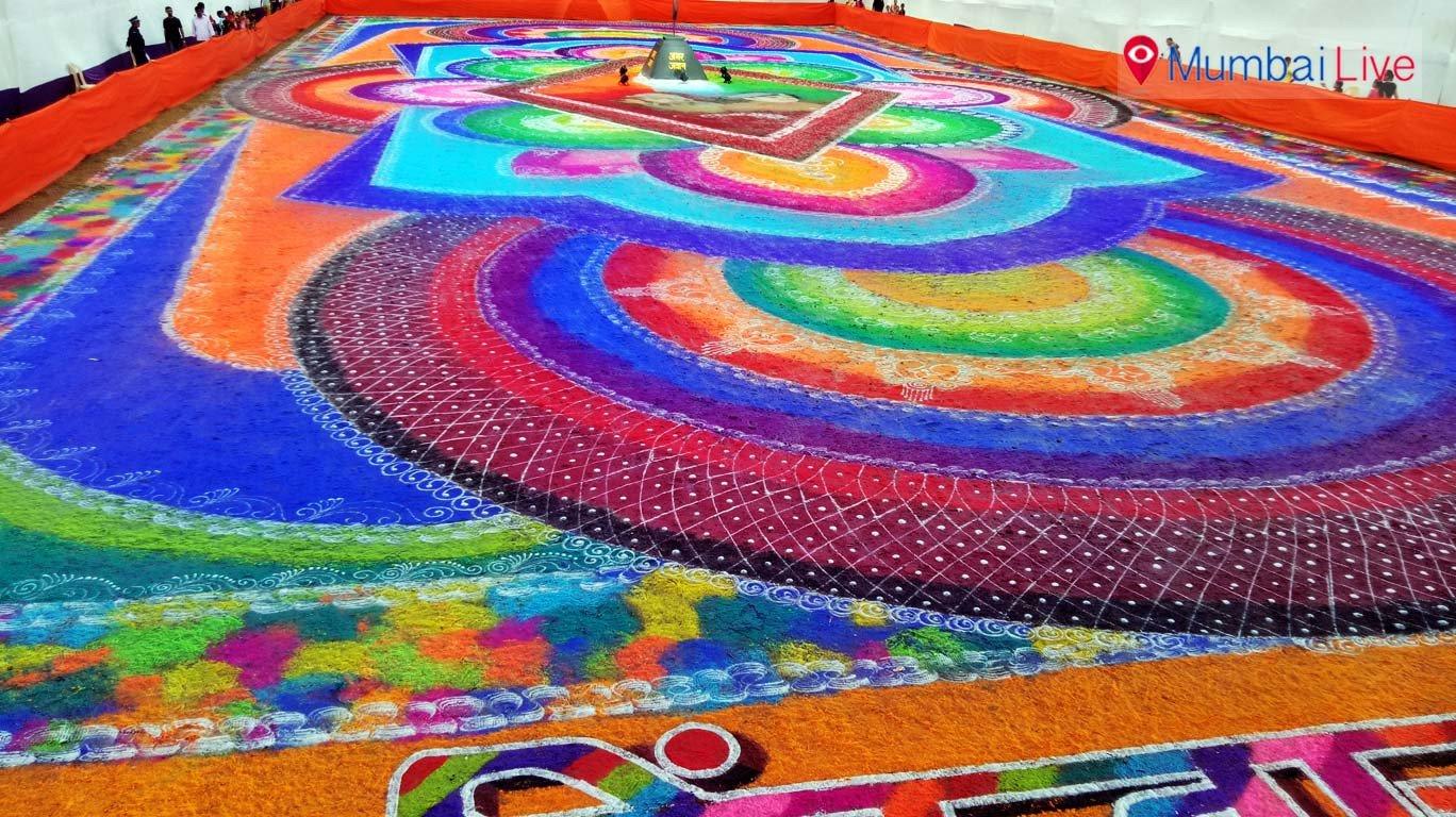 कुर्ला में बनी 15000 फुट की रंगोली