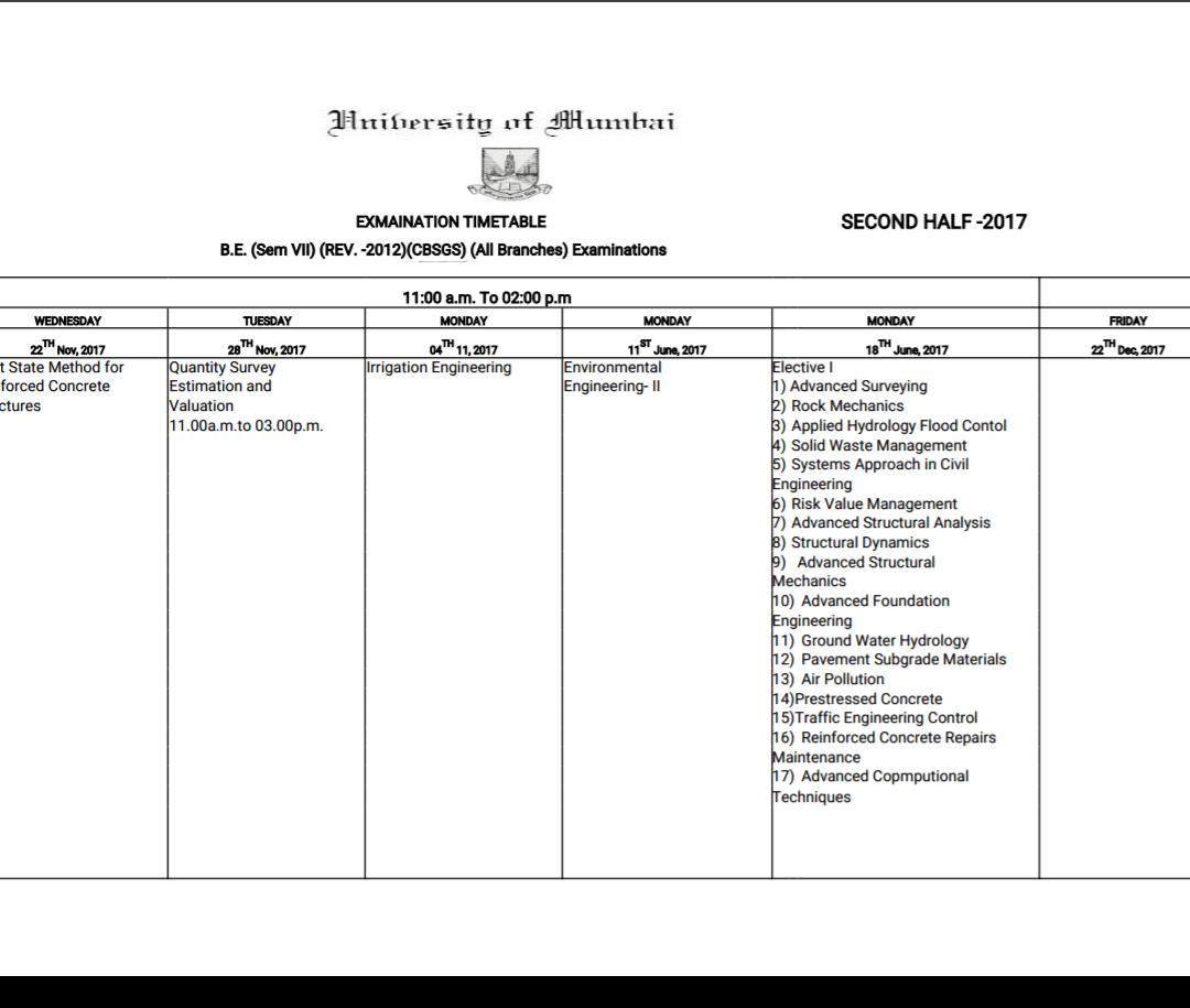 मुंबई विद्यापीठाचे 'दिवस फिरले'! इंजिनीअरींगच्या परीक्षेसाठी 'जून २०१७' चं वेळापत्रक केलं तयार