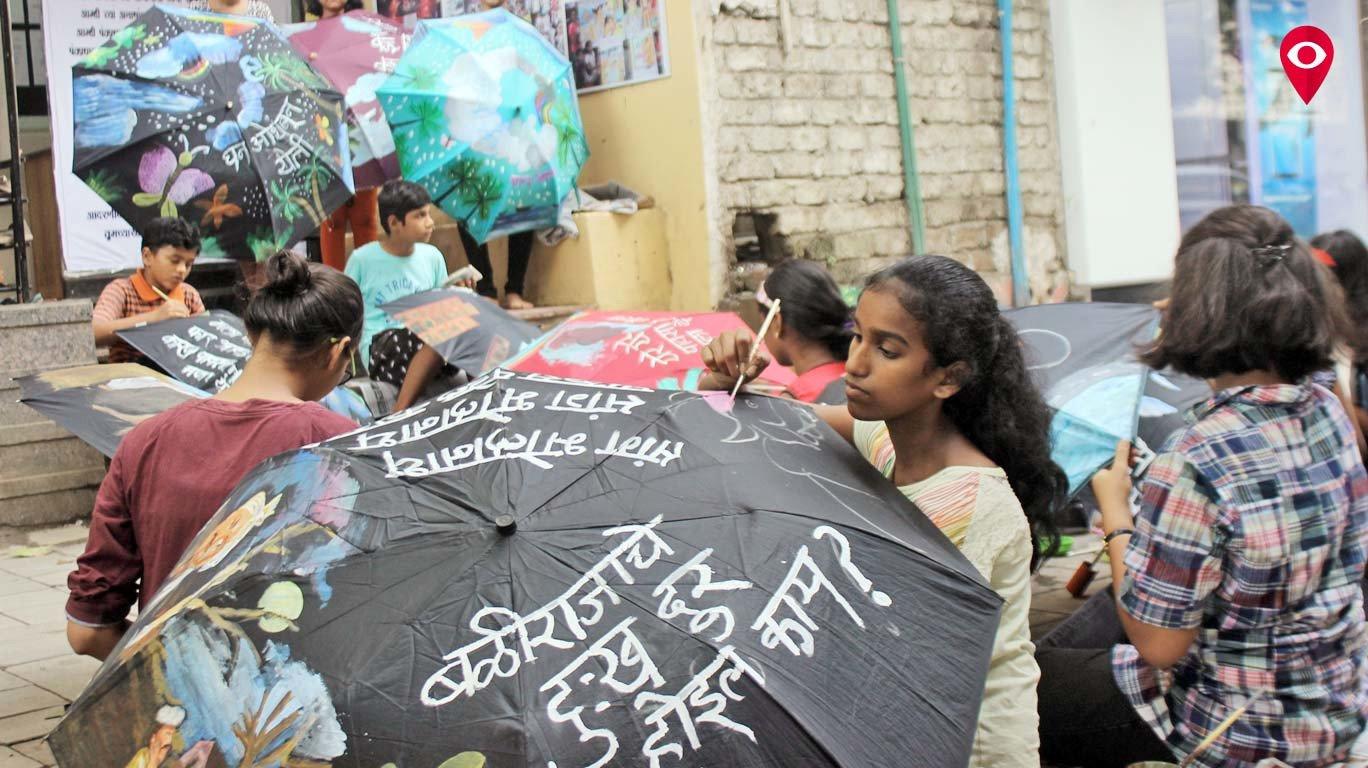 छत्र्यांच्या माध्यमातून पर्यावरण रक्षणाचा संदेश