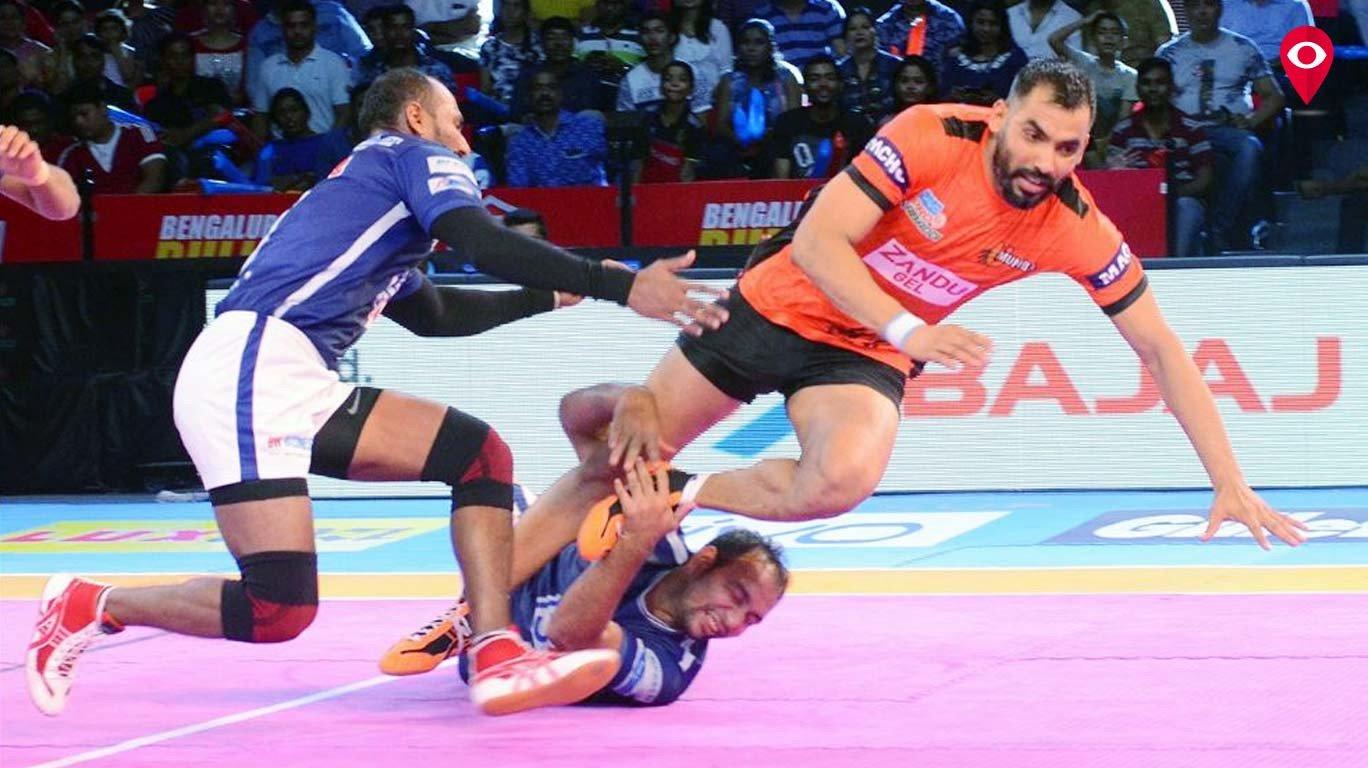 U Mumba beat Dabang Delhi 36-22 in Nagpur