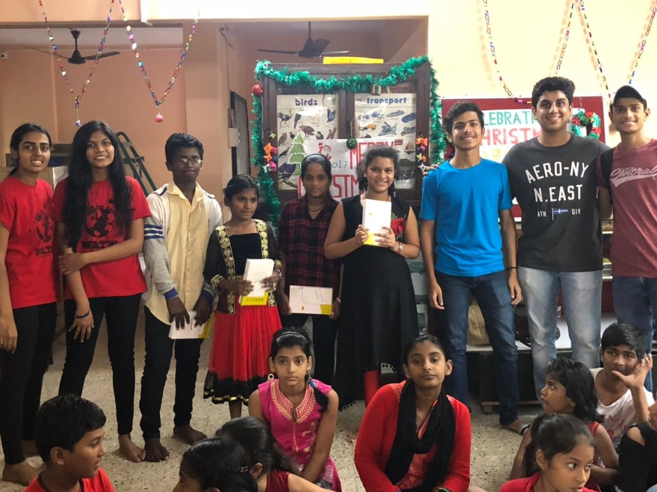 The Rotaract Club of HR College celebrated an unusual Christmas