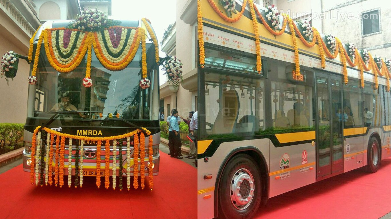 BEST flags off electric air-conditioned hybrid buses in Mumbai