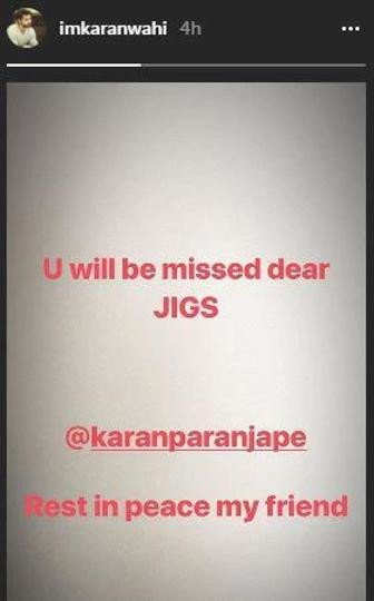 'Dill Mill Gayye' actor Karan Paranjape dies
