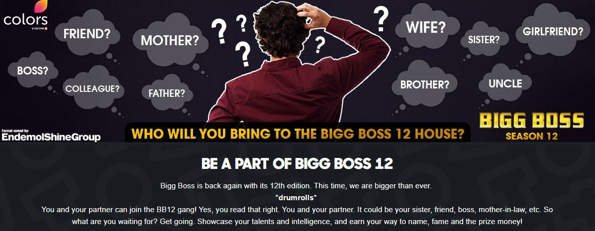 Bigg Boss 12 is here; this time participate with a partner