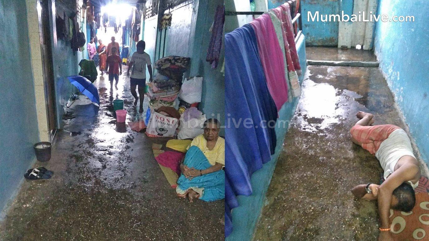 बीडीडी चॉल वासियों के लिए बारिश बनीं आफत, घर घर गंगा मइया