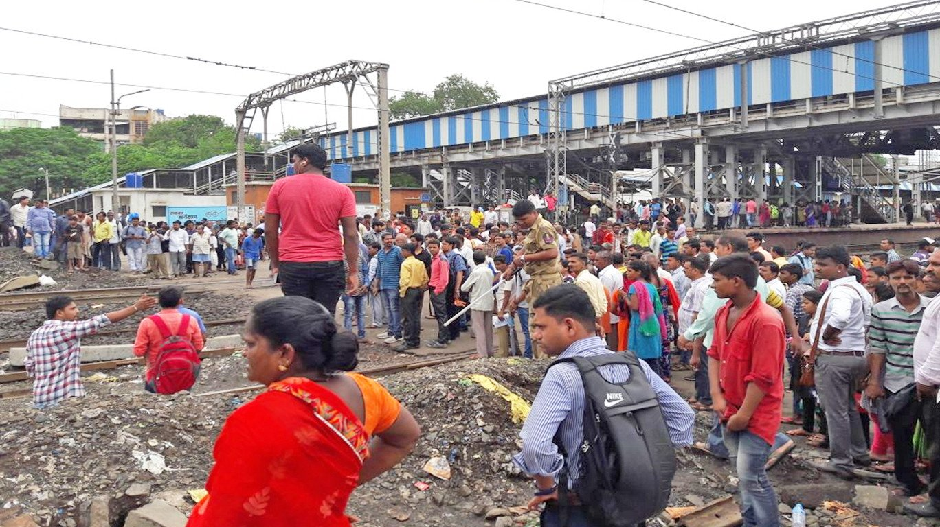 Two bike riders die after collision with express train at Diva station