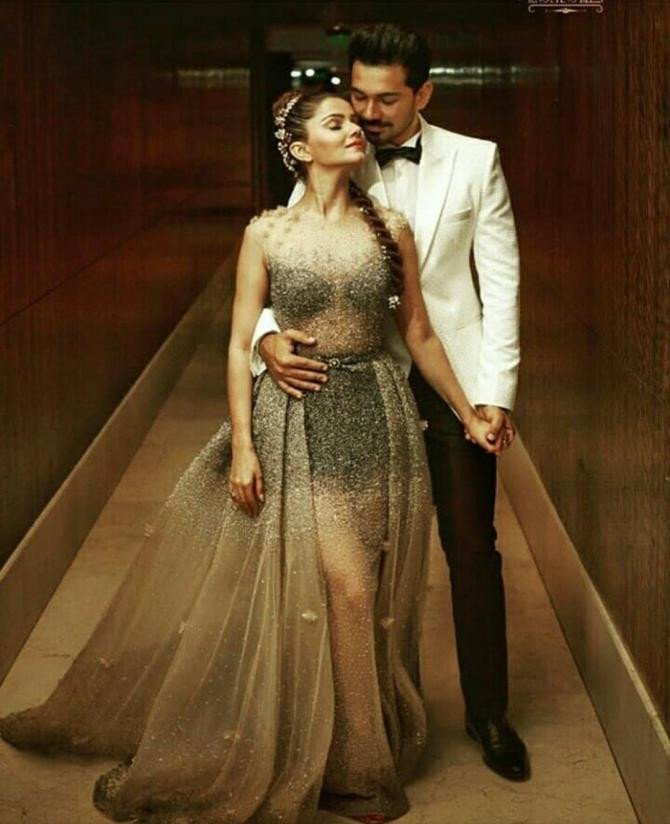Inside pictures from Rubina Dilaik and Abhinav Shukla's wedding reception party