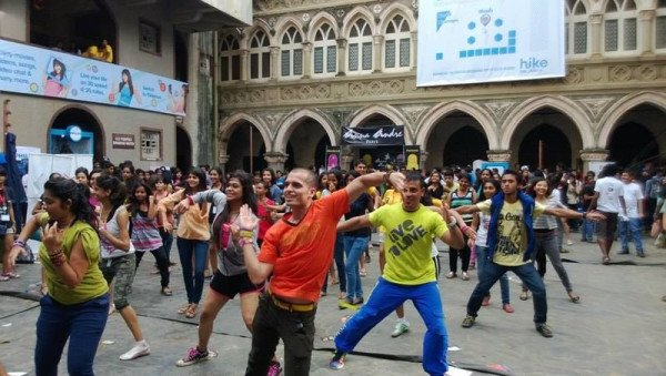 Students performing Flash Mob
