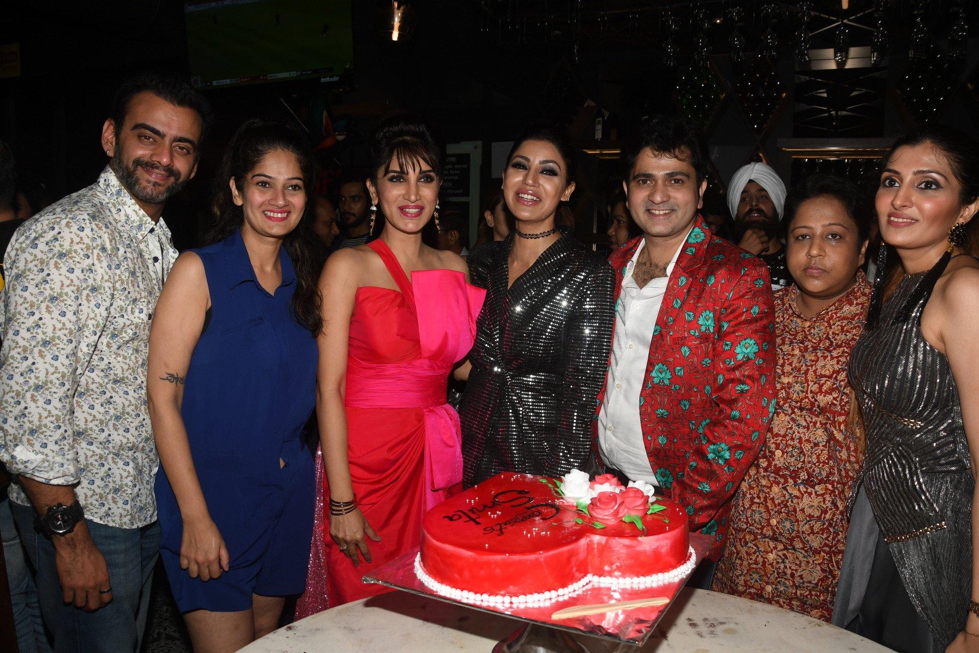 Actress Debina Bonnerjee hosts a surprise party for Bigg Boss Marathi contestant Smita Gondkar