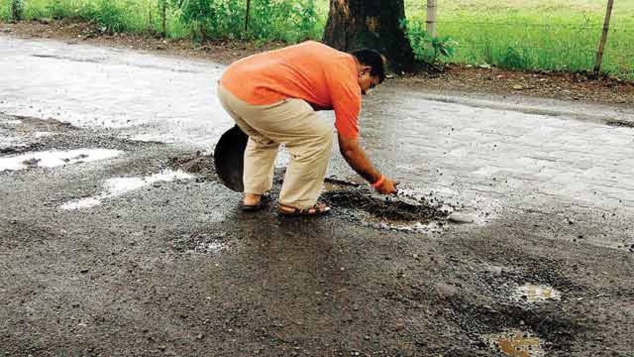 Mumbaikar fills up over 500 potholes in the memory of his deceased son