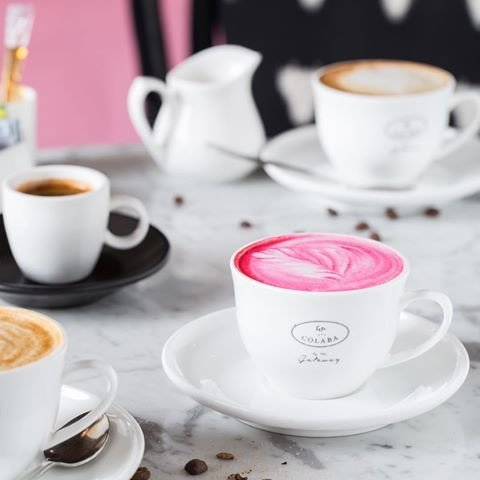 Savour this gorgeous 'Pink Latte' at this café in Colaba