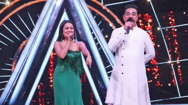Neha Kakkar's fan moment with Kamal Haasan on Indian Idol 10