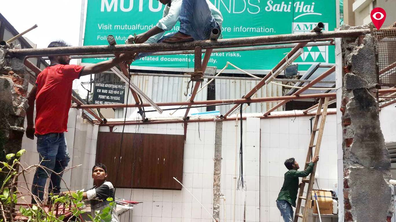 BMC demolishes illegal portions of Juhu eateries