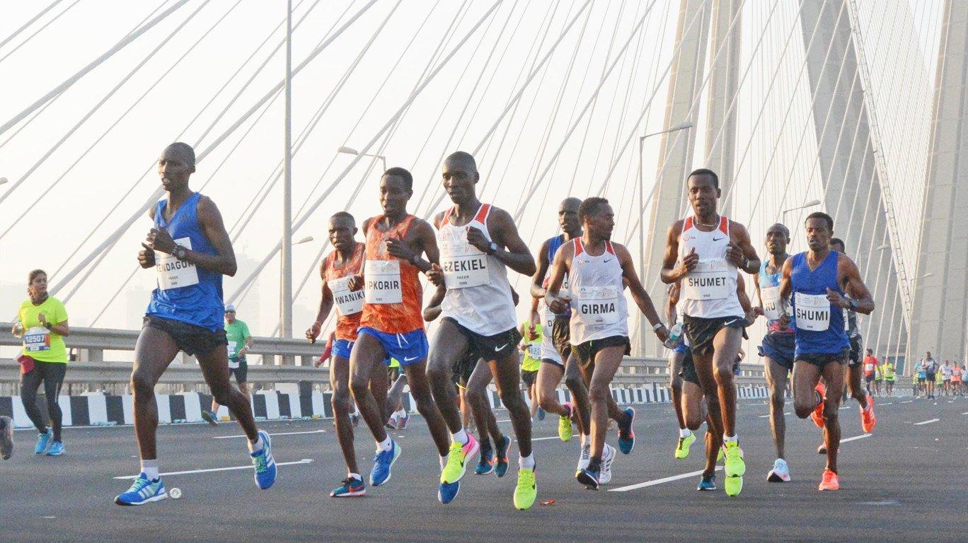 मुंबई मॅरेथाॅनवर यंदाही इथियोपियाचं वर्चस्व, साॅलोमन डेक्सिसा, अमाने गोबेना यांना विजेतेपद