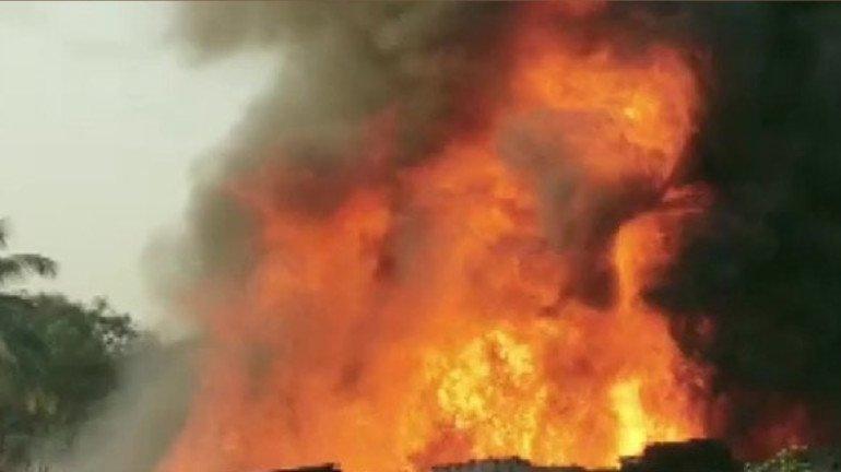 Mumbai fire: प्रभादेवी में लगी भीषण आग