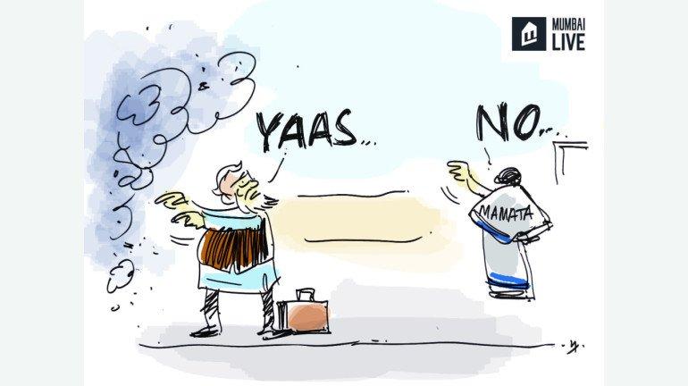 Cartoon: Mamata Banerjee meets PM Modi for 15 minutes; skips larger meet