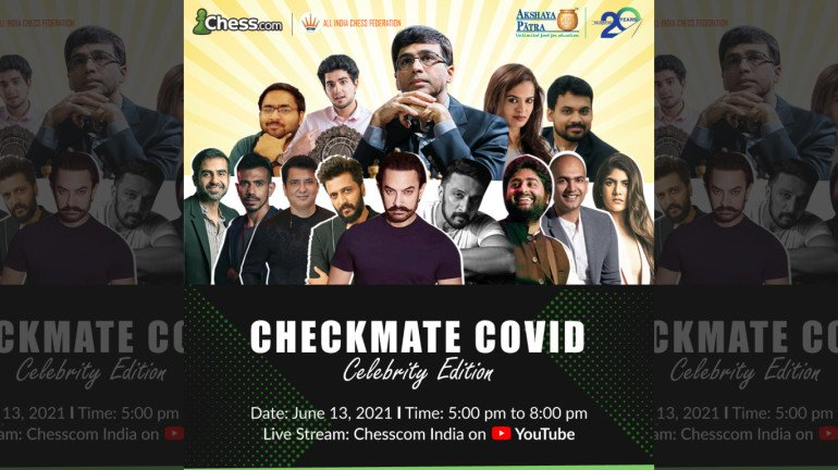 'Checkmate COVID – Celebrity Edition': Viswanathan Anand face-off against renowned personalities