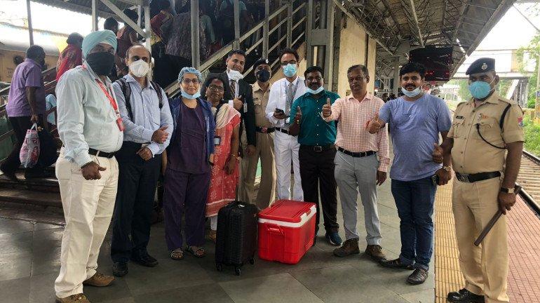 Organ Transported From Kalyan Station To Dadar In Minutes