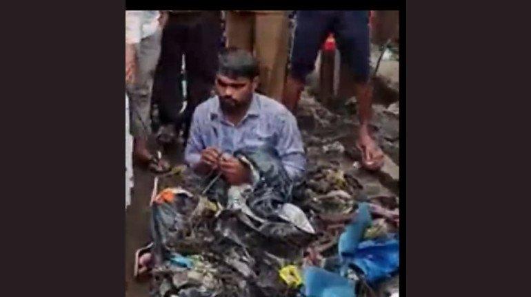 शिवसेना विधायक की दादागिरी, ठेकेदार पर डाला नाले का कचरा