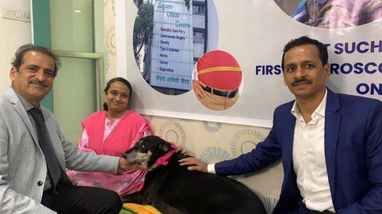 मोटे कुत्तों पर भारत में पहली बार लैप्रोस्कोपिक स्लीव गैस्ट्रेक्टोमी सर्जरी