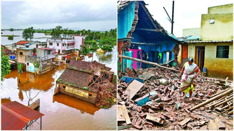 Maharashtra Govt Announces Immediate Relief of INR 10,000 Per Family to flood victims