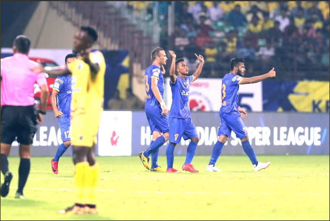 Hero ISL 2018/19: Mumbai City FC score a last-gasp equaliser to secure a point away to Kerala Blasters