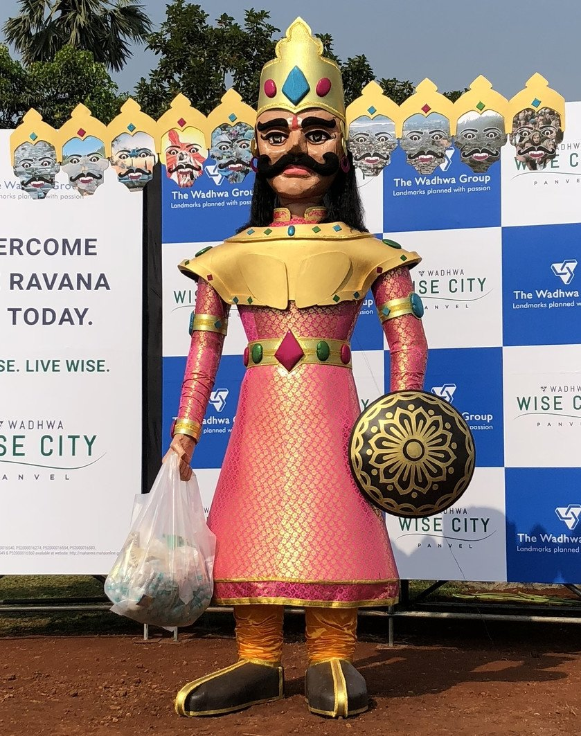 Wadhwa Wise City installs a 15-feet-tall 'Modern Day Ravana' this Dussehra
