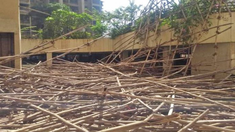 ठाणे: बिल्डिंग की पुताई के दौरान टुटा बांस, 7 मजदुर घायल