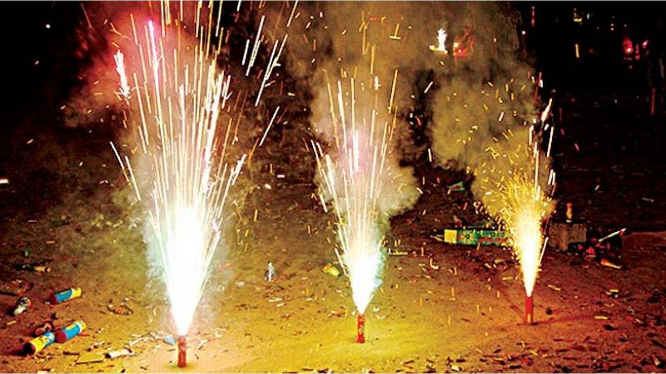 Mumbai police books two men for bursting firecrackers after midnight